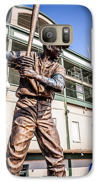 Ernie Banks Statue At Wrigley Field  Galaxy S7 Case by Paul Velgos