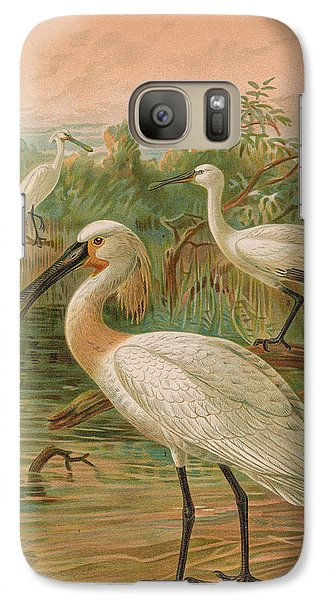 Eurasian Spoonbill Galaxy Case by J G Keulemans