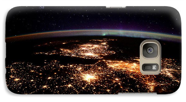 Galaxy Case featuring the photograph Europe At Night, Satellite View by Science Source