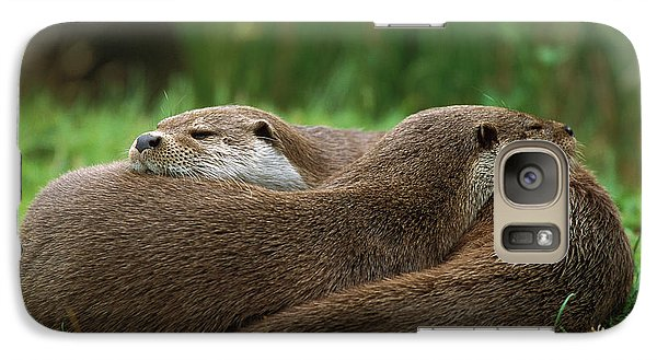 European River Otter Lutra Lutra Galaxy Case by Ingo Arndt
