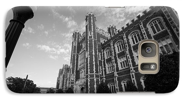 Evans Hall In Black And White Galaxy Case by Nathan Hillis