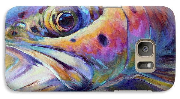 Face Of A Rainbow- Rainbow Trout Portrait Galaxy S7 Case by Savlen Art