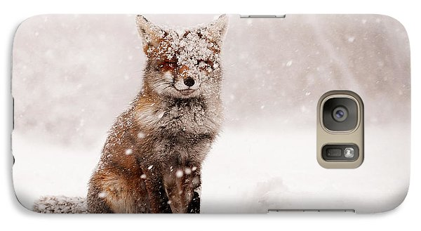 Fairytale Fox _ Red Fox In A Snow Storm Galaxy Case by Roeselien Raimond