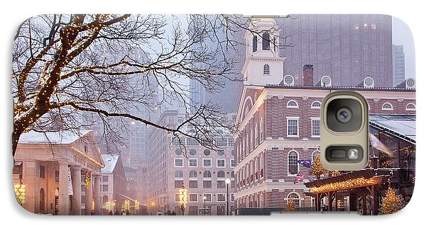 Faneuil Hall In Snow Galaxy S7 Case by Susan Cole Kelly
