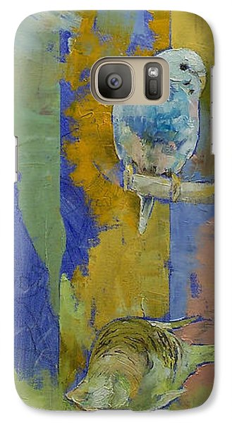 Feng Shui Parakeets Galaxy S7 Case by Michael Creese