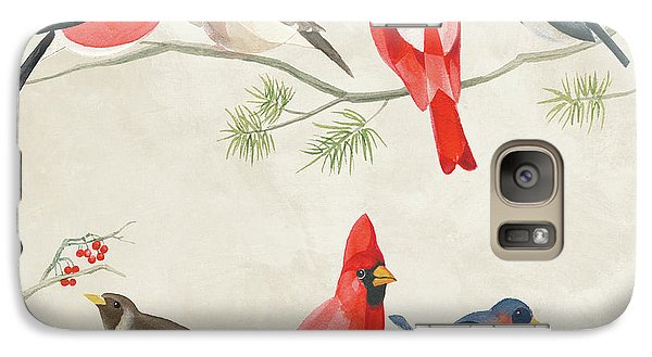 Festive Birds I Galaxy Case by Danhui Nai