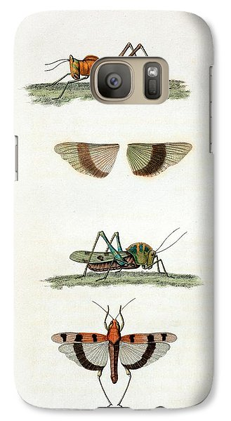 Field Crickets Galaxy S7 Case by General Research Division/new York Public Library