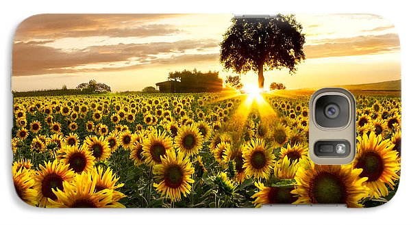 Fields Of Gold Galaxy Case by Debra and Dave Vanderlaan