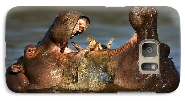 Fighting Hippo's Galaxy Case by Johan Swanepoel