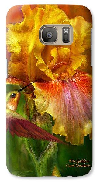 Fire Goddess Galaxy S7 Case by Carol Cavalaris