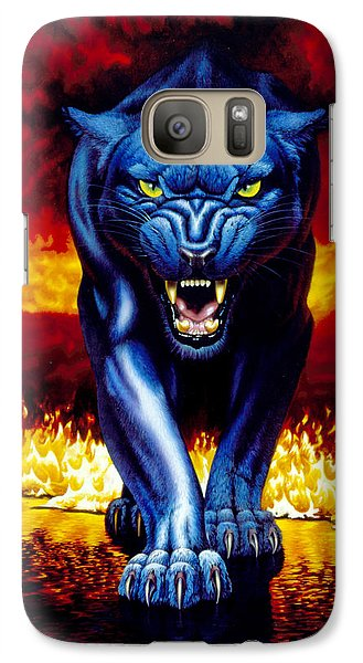Fire Panther Galaxy S7 Case by MGL Studio - Chris Hiett