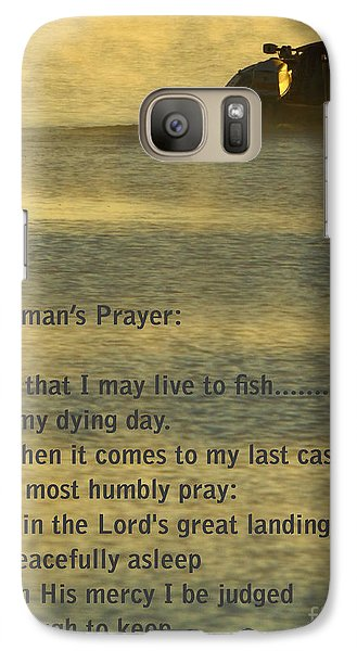 Fisherman's Prayer Galaxy Case by Robert Frederick