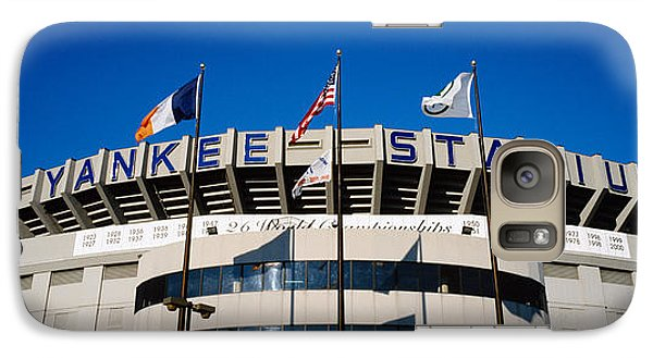 Flags In Front Of A Stadium, Yankee Galaxy Case by Panoramic Images