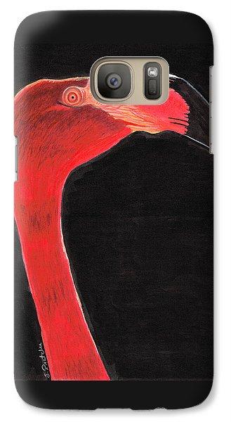 Flamingo Art By Sharon Cummings Galaxy Case by Sharon Cummings