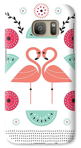 Flamingo Flutter Galaxy Case by Susan Claire