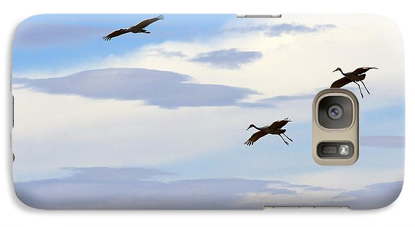 Flight Of The Sandhill Cranes Galaxy S7 Case by Mike  Dawson