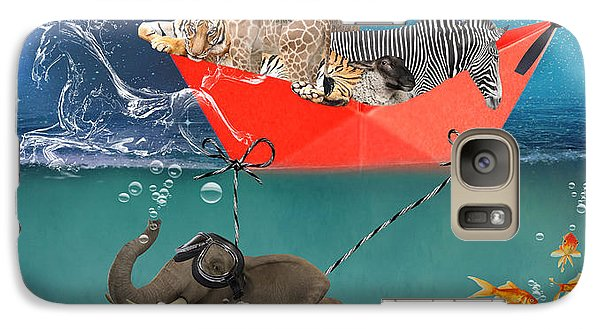 Floating Zoo Galaxy S7 Case by Juli Scalzi