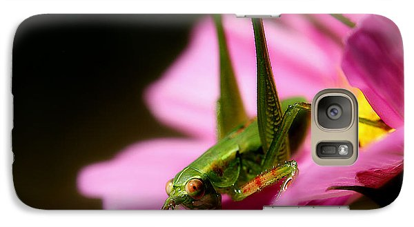 Flower Hopper Galaxy S7 Case by Michael Eingle