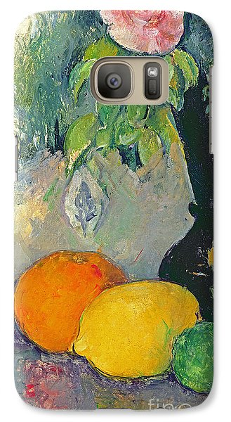 Flowers And Fruits Galaxy S7 Case by Paul Cezanne