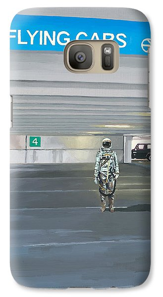 Flying Cars To The Right Galaxy S7 Case by Scott Listfield