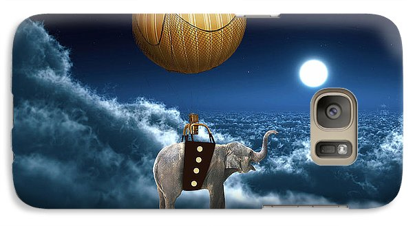 Flying High And On Time Galaxy Case by Marvin Blaine