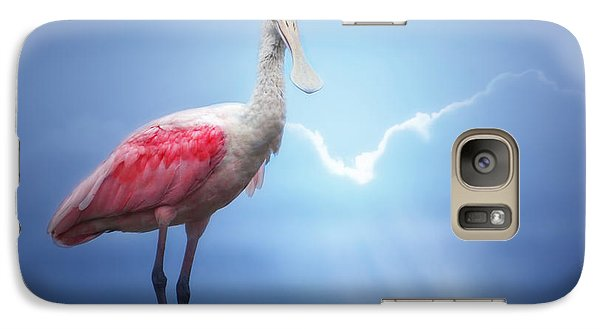 Foggy Morning Spoonbill Galaxy S7 Case by Mark Andrew Thomas