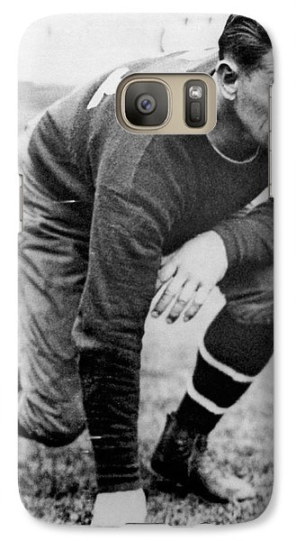 Football Player Jim Thorpe Galaxy S7 Case by Underwood Archives