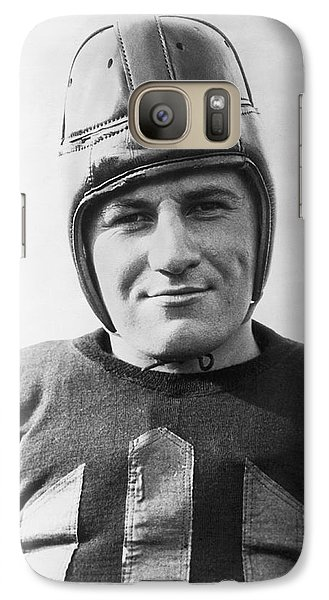 Football Player Portrait Galaxy Case by Underwood Archives