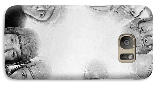 Football Team Huddle Galaxy Case by Underwood Archives