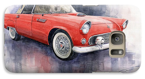 Ford Thunderbird 1955 Red Galaxy S7 Case by Yuriy  Shevchuk