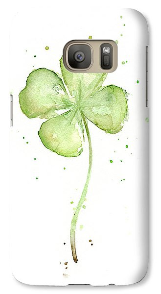 Four Leaf Clover Lucky Charm Galaxy Case by Olga Shvartsur