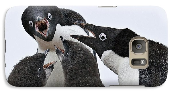 Four Penguins Galaxy Case by Carol Walker