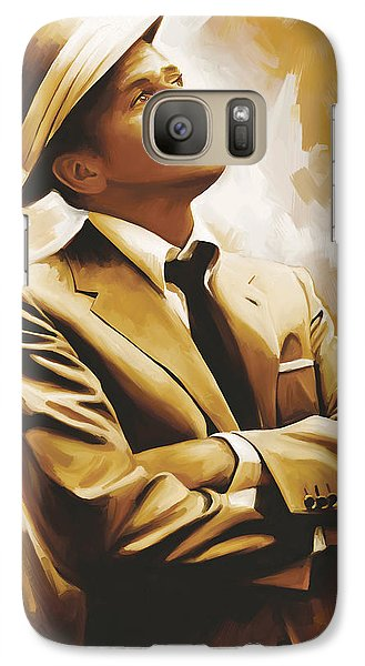 Frank Sinatra Artwork 1 Galaxy Case by Sheraz A