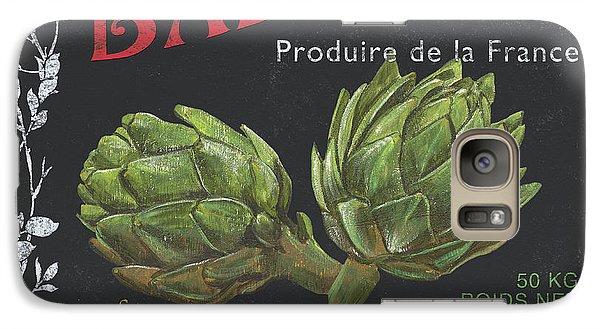 French Veggie Labels 1 Galaxy Case by Debbie DeWitt
