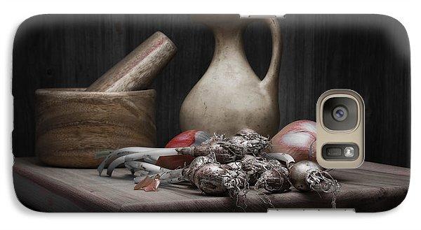 Fresh Onions With Pitcher Galaxy S7 Case by Tom Mc Nemar