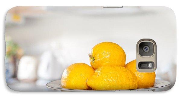 Freshly Picked Lemons Galaxy Case by Amanda Elwell