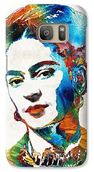 Frida Kahlo Art - Viva La Frida - By Sharon Cummings Galaxy S7 Case by Sharon Cummings