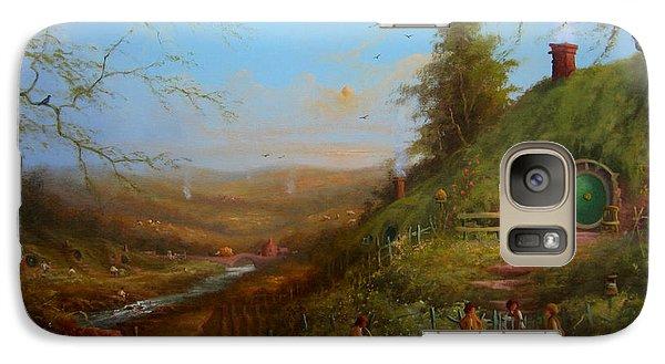 Frodo's Inheritance Bag End Galaxy Case by Joe  Gilronan