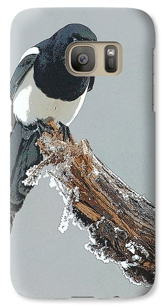 Frosted Magpie- Abstract Galaxy S7 Case by Tim Grams
