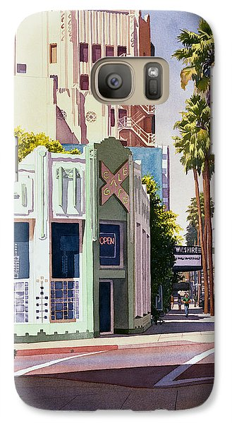 Gale Cafe On Wilshire Blvd Los Angeles Galaxy S7 Case by Mary Helmreich