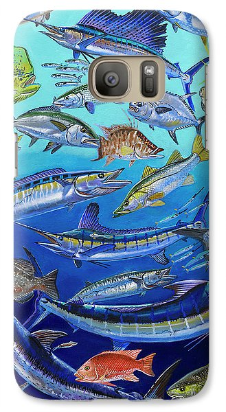Gamefish Collage In0031 Galaxy Case by Carey Chen