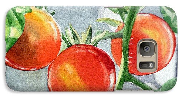 Garden Cherry Tomatoes  Galaxy Case by Irina Sztukowski