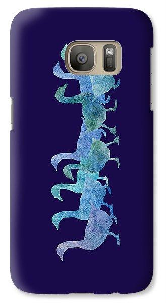 Geese Batik Galaxy Case by Jenny Armitage