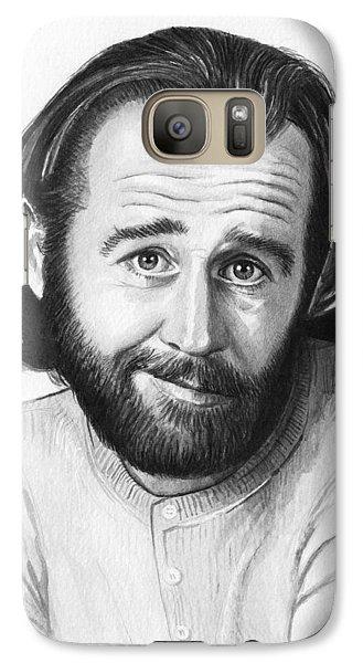 George Carlin Portrait Galaxy S7 Case by Olga Shvartsur