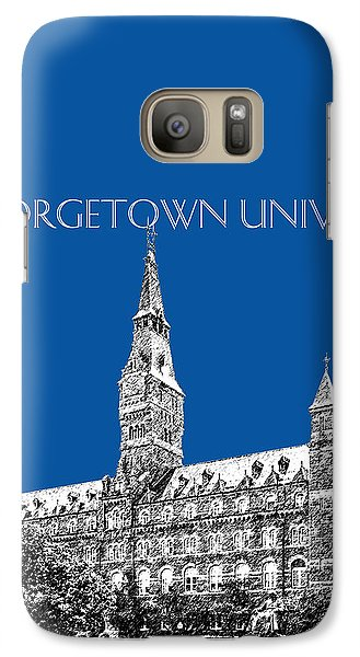 Georgetown University - Royal Blue Galaxy Case by DB Artist
