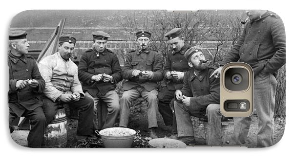 Germans Peeling Potatoes Galaxy Case by Underwood Archives