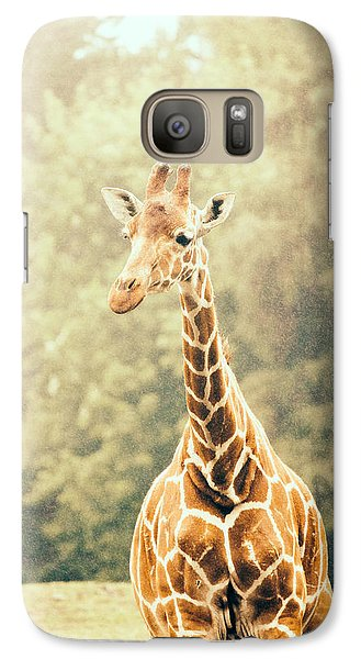 Giraffe In The Rain Galaxy Case by Pati Photography