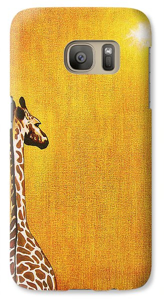 Giraffe Looking Back Galaxy Case by Jerome Stumphauzer