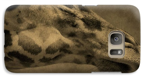 Giraffe Portait Galaxy S7 Case by Dan Sproul