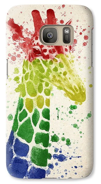 Giraffe Splash Galaxy Case by Aged Pixel